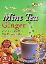 Honsei Instant Ginger Honey Mint Tea (20 Sachets)