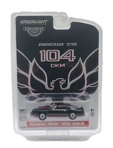 "Greenlight Black 1979 Pontiac Firebird Trans Am ""Macho"" 1:64 Diecast"