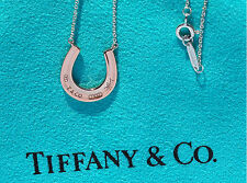 Tiffany & Co 1837 Rubedo Horseshoe Charm Sterling Silver Pendant Necklace