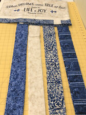 2.5 Jelly Roll Strips  With Panel Timeless Treasures Fabric.