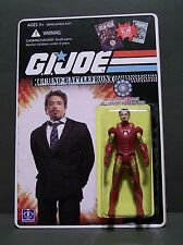 "Custom GI Joe figure and package of ""Techno Battlefront"" Stark from IRON MAN"