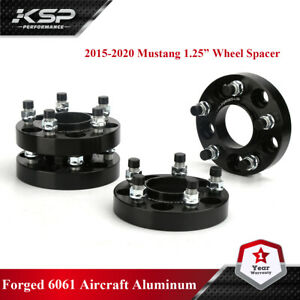 """2015-2018 Ford Mustang Black Hubcentric Wheel Spacers Adapters 1.25"""" Thick"""