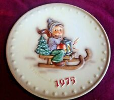 Goebel 5th Annual Plate 1975 Ride Into Christmas #268 Mj Hummel ~ Free Ship!
