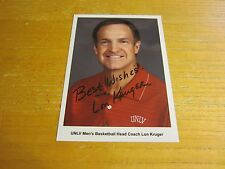 Lon Kruger Autographed Signed 5X7 Photograph NCAA Basketball UNLV Runnin' Rebels