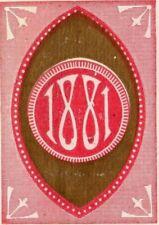 1881 Pocket Calendar Marks Bros. Marco Kid Gloves Art Nouveau Motif P166
