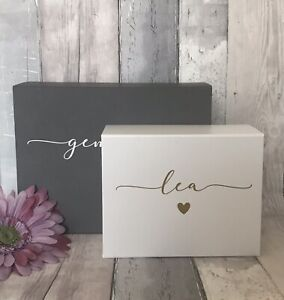 Luxury Personalised Magnetic Special Gift Box with Name, Keepsake Box