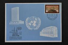 UN UNO Geneva FN i Skara 1980 special frank blue card 24/10/1980 blaue karte