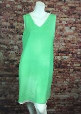 T Tahari Green Chiffon Shift Dress Size SP