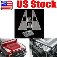 Hood Skid Plate Intake Grille Set for Land Rover Defender Traxxas Trx4 Rc Car Us