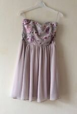 PRIMARK PROM WEDDING PARTY DRESS EMBROIDERED UK 14 EUR 42 NEW!