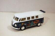 "5"" Kinsmart 1962 Volkswagen Classical Bus w/Decal 1:32 Diecast Love Peace Green"