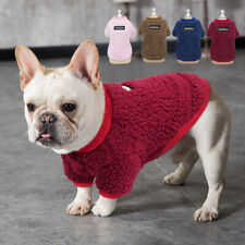 Dog Fleece Vest Soft Winter Warm Dog Clothes Puppy Sweater for French Bulldog