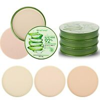 3 Color Aloe Moisture Foundation Makeup Oil Control Smooth Face Powder Pro.