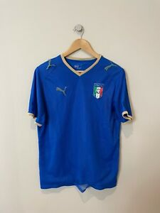 ITALY 2007-08 (MEDIUM) HOME FOOTBALL SHIRT PUMA (VINTAGE RETRO CLASSIC) ITALIA