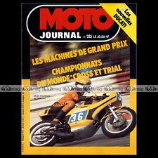 MOTO JOURNAL N°215 TRIAL AMBERIEU MICK ANDREWS MARCEL WITTEMER GRAND PRIX 1975