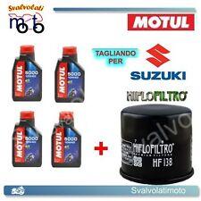 TAGLIANDO FILTRO OLIO + 4LT MOTUL 5000 10W40 SUZUKI DL V-STROM 650 2004 2005