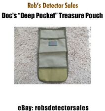 """Doc's """"Deep Pocket"""" Treasure Pouch with Mesh Panel - Metal Detecting - Minelab"""
