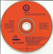 Mark Robinson UNREST Cath Carroll 4AD 2 ACOUSTIC & 2 UNRLEASE PROMO DJ CD Single