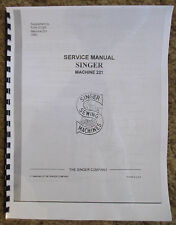 Singer Featherweight Sewing Machine 221 Service Repair Manual + Parts List