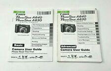 ORIGINAL Canon Powershot A640 A630 User Guide Basic Advanced Camera Owner Manual