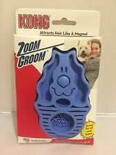 Kong Zoom Groom Rubber Brush for Dogs Soft & Strong - Boysenberry or Raspberry
