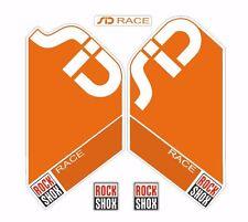 Rock Shox SID Race Mountain Bike Cycling Factory Style Decal Kit Sticker Orange