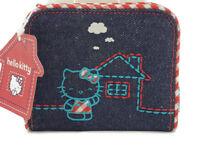 New 2003 Sanrio Hello Kitty Denim Coin Purse Wallet