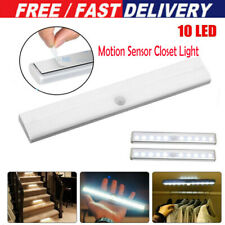 10 LED Motion Sensor Closet Light Wireless Night Cabinet Battery Powered UK