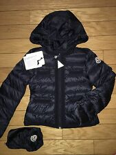 NEW $495 Moncler Girls ALOSE Navy Lightweight Down Puffer Jacket, Size 5A/110cm