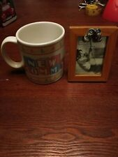 New Mommy Coffee Cup And Baby Frame Wood And Metal