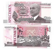 KAMBODSCHA CAMBODIA SPECIMEN 500 RIELS 2014 UNC P 66 s