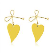 Women Silver Plated Ear Stud Dangle Hoop Drop Zircon Earrings Crystal Jewelry