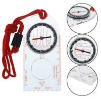 Outdoor Camping Hiking Special Compass Base Plate Ruler Map Scale Comp chi F9E9