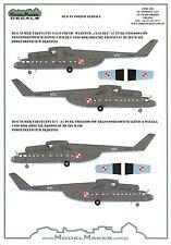 "Model Maker Decals 1/72 MIL Mi-6 ""HOOK"" Polish Air Force Helicopter"