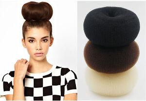 15CM Large Hair Donut Bun Maker Blonde Coffee Hair Bun Hair Accessories Clips