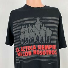 Nike Mexico National Soccer Team El Azteca T Shirt Black Football Size Large