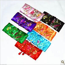 25pcs Silk Brocade Travel Bag Jewelry Roll Pouch Purse Fashion Gift