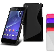 Funda de silicona smartphone Xperia Z2 protección para Sony estilo S-Line