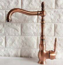 Basin Faucets Red Antique Copper Bathroom Faucet Hot and Cold Water Mixer Taps