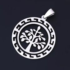 NEW Tree of Life Silver 316L Stainless Steel Titanium Pendant Necklace AW22