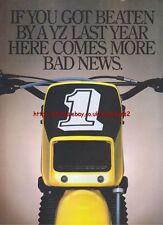 Yamaha YZ Motorcycle 1981 Magazine Double Sided Advert #3711