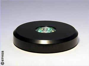 Led-Sockel SCHWARZ Colorstop Rund Ø11cm 15 Led's inkl Weiß Leuchtsockel LED-Base