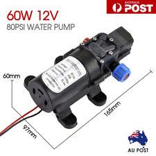 80PSI Water Pump High Pressure 5L/Min Self-Priming Caravan Camping Boat 60W 12V