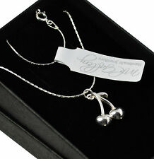 925 Sterling Silver Cherry Necklace