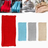 Chunky Knit Blanket Super Large Bulky Arm Knitting Blanket Big Wool