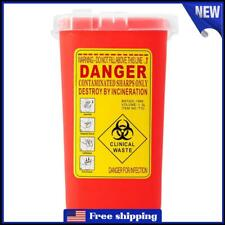 Sharps Container Bin Tattoo Medical Biohazard Piercing Needle Collect Box 3