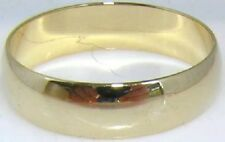 18K GOLD EP WOMENS WEDDING BAND RING sz 8 or Q