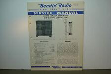 BENDIX RADIO SERVICE MANUAL MODELS 1518 1519 1524 1525 (12 PAGES)