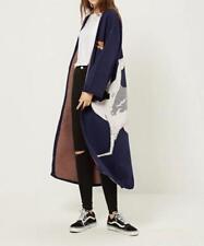 Fashion Knit Jacquard Crane Kimono Cardigans Womens Fall Long Jackets Coats New