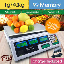 40KG Kitchen Digital Electronic Scale Commercial Shop Weight Scales Food